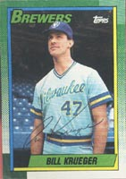 Bill Kreuger Milwaukee Brewers 1990 Topps Autographed Card. This item comes with a certificate of authenticity from Autograph-Sports. PSM-Powers Sports Memorabilia