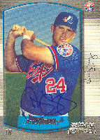 Andy Tracy Montreal Expos 2000 Bowman Rookie Card Autographed Card. This item comes with a certificate of authenticity from Autograph-Sports. PSM-Powers Sports Memorabilia
