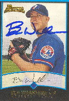 Ben Washburn Montreal Expos 2001 Bowman Rookie Card Autographed Card. This item comes with a certificate of authenticity from Autograph-Sports. PSM-Powers Sports Memorabilia