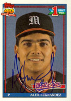 Alex Fernandez Chicago White Sox 1991 Topps Autographed Card - Rookie Card. This item comes with a certificate of authenticity from Autograph-Sports. PSM-Powers Sports Memorabilia