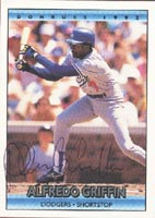 Alfredo Griffin Los Angeles Dodgers 1992 Donruss Autographed Card. This item comes with a certificate of authenticity from Autograph-Sports. PSM-Powers Sports Memorabilia