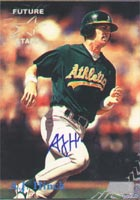 A.J. Hinch Oakland Athletics 1998 Stadium Club Future Stars Autographed Card - Minor League Card. This item comes with a certificate of authenticity from Autograph-Sports. PSM-Powers Sports Memorabilia