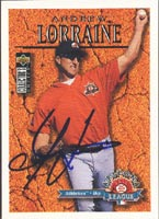 Andrew Lorraine Phoenix Desert Dogs - Athletics Affiliate 1996 Upper Deck Arizona League Autographed Card - Minor League Card. This item comes with a certificate of authenticity from Autograph-Sports. PSM-Powers Sports Memorabilia