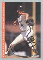 Xavier Hernandez Houston Astros 1993 Fleer Autographed Card. This item comes with a certificate of authenticity from Autograph-Sports. PSM-Powers Sports Memorabilia
