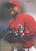 Aaron Holbert St. Louis Cardinals 1996 Fleer Autographed Card - Minor League Card. This item comes with a certificate of authenticity from Autograph-Sports. PSM-Powers Sports Memorabilia
