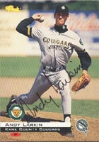 Andy Larkin Kane County Cougars - Marlins Affiliate 1994 Classic Autographed Card - Minor League Card. This item comes with a certificate of authenticity from Autograph-Sports. PSM-Powers Sports Memorabilia