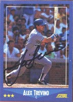 Alex Trevino Los Angeles Dodgers 1988 Score Autographed Card. This item comes with a certificate of authenticity from Autograph-Sports. PSM-Powers Sports Memorabilia