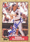 Doug DeCinces California Angels 1987 Topps Autographed Card. This item comes with a certificate of authenticity from Autograph-Sports. PSM-Powers Sports Memorabilia