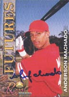 Anderson Machado Philadelphia Phillies 2001 Royal Rookies Futures Autographed Card - Minor League Card. This item comes with a certificate of authenticity from Autograph-Sports. PSM-Powers Sports Memorabilia