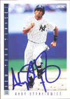 Andy Stankiewicz New York Yankees 1993 Score Autographed Card - Rookie Card.  This item comes with a certificate of authenticity from Autograph-Sports.