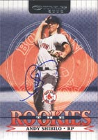 Andy Shibilo Boston Red Sox 2002 Donruss The Rookies Autographed Card - Rookie Card. This item comes with a certificate of authenticity from Autograph-Sports. PSM-Powers Sports Memorabilia