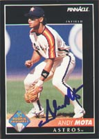 Andy Mota Houston Astros 1992 Pinnacle Rookie Prospect Autographed Card - Rookie Card. This item comes with a certificate of authenticity from Autograph-Sports. PSM-Powers Sports Memorabilia