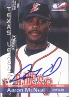 Aaron McNeal Round Rock Express - Astros Affiliate 2000 Texas League Top Prospect Autographed Card - Minor League Card. This item comes with a certificate of authenticity from Autograph-Sports. PSM-Powers Sports Memorabilia