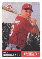 Ben Broussard Chattanooga Lookouts - Reds Affiliate 2002 Topps Total Autographed Card - Minor League Card. This item comes with a certificate of authenticity from Autograph-Sports. PSM-Powers Sports Memorabilia