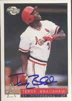 Terry Bradshaw St. Petersburg Cardinals - Cardinals Affiliate 1993 Fleer Excel Autographed Card - Minor League Card. This item comes with a certificate of authenticity from Autograph-Sports. PSM-Powers Sports Memorabilia