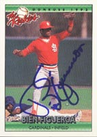 Bien Figueroa Louisville Redbirds - Cardinals Affiliate 1992 Donruss The Rookies Autographed Card - Rookie Card. This item comes with a certificate of authenticity from Autograph-Sports. PSM-Powers Sports Memorabilia