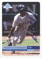Alberto Callaspo Provo Angels - Angels Affiliate 2003 Grandstand Autographed Card - Minor League Card. This item comes with a certificate of authenticity from Autograph-Sports. PSM-Powers Sports Memorabilia