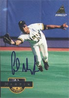 Al Martin Pittsburgh Pirates 1994 Pinnacle Autographed Card. This item comes with a certificate of authenticity from Autograph-Sports. PSM-Powers Sports Memorabilia