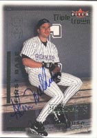 Adam Melheuse Colorado Rockies 2001 Fleer Triple Crown Prospects Autographed Card - Minor League Card. This item comes with a certificate of authenticity from Autograph-Sports. PSM-Powers Sports Memorabilia