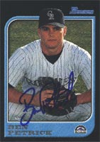 Ben Petrick Asheville Tourists - Rockies Affiliate 1997 Bowman Autographed Card - Minor League Card. This item comes with a certificate of authenticity from Autograph-Sports. PSM-Powers Sports Memorabilia