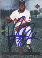 Alex Ochoa Frederick Keys - Orioles Affiliate 1994 Upper Deck SP Premier Prospects Foil Autographed Card - Minor League Card. This item comes with a certificate of authenticity from Autograph-Sports. PSM-Powers Sports Memorabilia