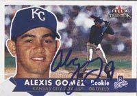 Alexis Gomez Wilmington Blue Rocks - Royals Affiliate 2001 Fleer Tradition Rookie Autographed Card - Rookie Card. This item comes with a certificate of authenticity from Autograph-Sports. PSM-Powers Sports Memorabilia