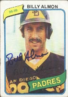 Bill Almon San Diego Padres 1980 Topps Autographed Card. This item comes with a certificate of authenticity from Autograph-Sports. PSM-Powers Sports Memorabilia