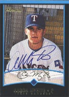 Aaron Myette Charlotte Rangers - Rangers Affiliate 2001 Bowman Autographed Card - Minor League Card. This item comes with a certificate of authenticity from Autograph-Sports. PSM-Powers Sports Memorabilia
