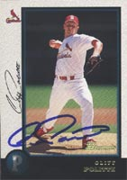Cliff Politte Arkansas Travellers - Cardinals Affiliate 1998 Bowman Autographed Card - Minor League Card. This item comes with a certificate of authenticity from Autograph-Sports. PSM-Powers Sports Memorabilia