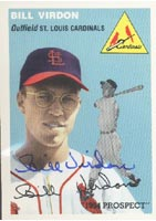 Bill Virdon St. Louis Cardinals 1954 Topps Archives Prospect Autographed Card . This item comes with a certificate of authenticity from Autograph-Sports. PSM-Powers Sports Memorabilia