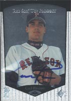Carl Pavano Pawtucket Red Sox - Red Sox Affiliate 1997 Upper Deck SP Top Prospects Autographed Card - Minor League Card - Light signature. This item comes with a certificate of authenticity from Autograph-Sports. PSM-Powers Sports Memorabilia