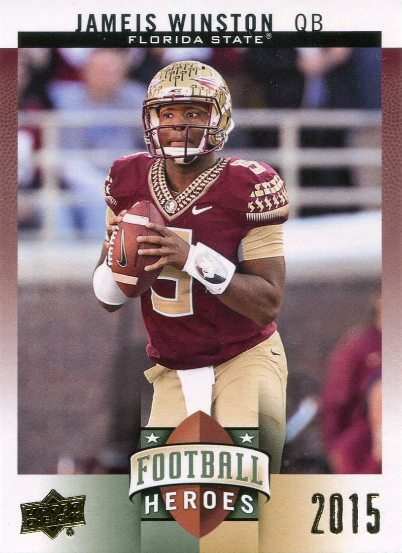 Jameis Winston Unsigned 2015 UpperDeck Football Heroes Card PSM-Powers Sports Memorabilia