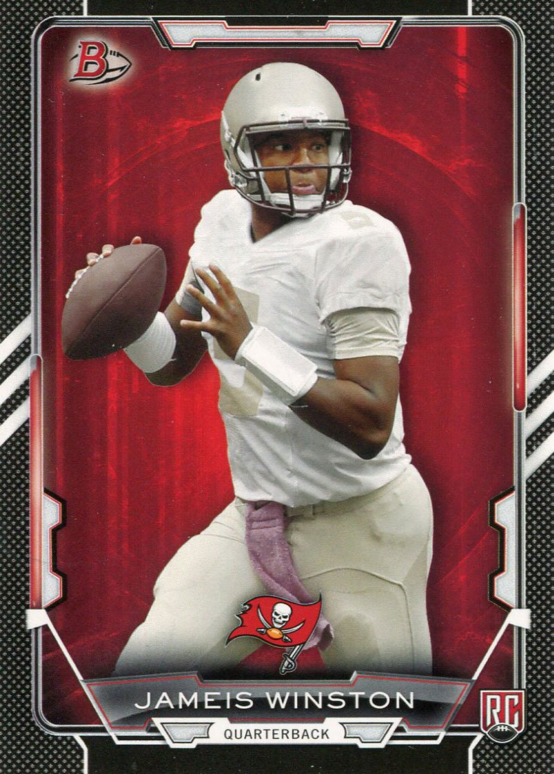 Jameis Winston Unsigned 2015 Topps Bowman Rookie Card PSM-Powers Sports Memorabilia