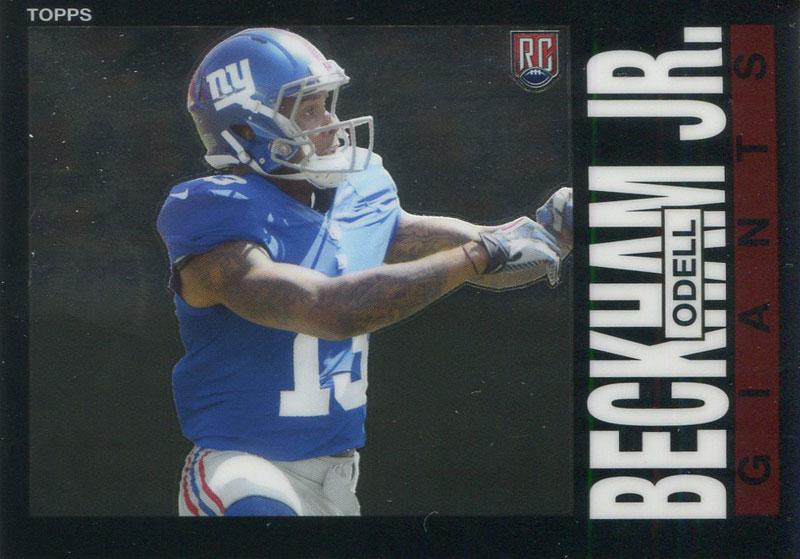 Odell Beckham Jr. Unsigned 2014 Topps Rookie Card PSM-Powers Sports Memorabilia