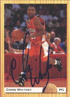 Chris Whitney San Antonio Spurs 1993 Classic Draft Picks Autographed Card - Rookie Card. This item comes with a certificate of authenticity from Autograph-Sports. PSM-Powers Sports Memorabilia