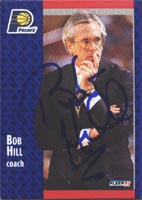 Bob Hill Indiana Pacers 1991 Fleer Autographed Card - Coach. This item comes with a certificate of authenticity from Autograph-Sports. PSM-Powers Sports Memorabilia