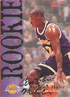Anthony Miller Los Angeles Lakers 1995 Skybox Rookie Autographed Card - Rookie Card. This item comes with a certificate of authenticity from Autograph-Sports. PSM-Powers Sports Memorabilia