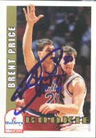 Brent Price Washington Bullets 1993 Hoops Rookie Autographed Card - Rookie Card. This item comes with a certificate of authenticity from Autograph-Sports. PSM-Powers Sports Memorabilia