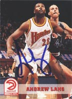 Andrew Lang Atlanta Hawks 1994 Hoops Autographed Card. This item comes with a certificate of authenticity from Autograph-Sports. PSM-Powers Sports Memorabilia