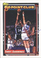 Terry Cummings San Antonio Spurs 1993 Topps 50 Point Club Autographed Card. This item comes with a certificate of authenticity from Autograph-Sports. PSM-Powers Sports Memorabilia