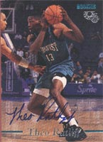 Theo Ratliff Detroit Pistons 1995 Classic Rookies Autographed Card - Certified Autograph - 840 / 3310. This item comes with a certificate of authenticity from Autograph-Sports. PSM-Powers Sports Memorabilia