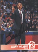 Lenny Wilkens Atlanta Hawks 1994 Skybox Autographed Card - Hall Of Fame - Coach. This item comes with a certificate of authenticity from Autograph-Sports. PSM-Powers Sports Memorabilia