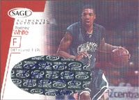 Rodney White Detroit Pistons 2001 Sage Authentic Autograph Autographed Card - Certified Autograph #91/499 - Rookie Card. This item comes with a certificate of authenticity from Autograph-Sports. PSM-Powers Sports Memorabilia