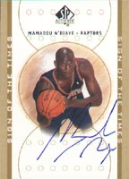 Mamadou N'Diaye Toronto Raptors 2001 Upper Deck Sign of the Times Autographed Card - Certified Autograph. This item comes with a certificate of authenticity from Autograph-Sports. PSM-Powers Sports Memorabilia