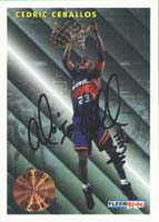Cedric Ceballos Phoenix Suns 1994 Fleer League Leader Autographed Card. This item comes with a certificate of authenticity from Autograph-Sports. PSM-Powers Sports Memorabilia