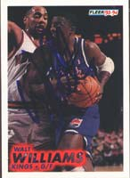 Walt Williams Sacramento Kings 1994 Fleer Autographed Card. This item comes with a certificate of authenticity from Autograph-Sports. PSM-Powers Sports Memorabilia