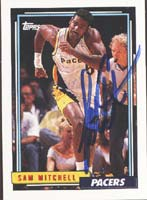 Sam Mitchell Indiana Pacers 1993 Topps Autographed Card. This item comes with a certificate of authenticity from Autograph-Sports. PSM-Powers Sports Memorabilia