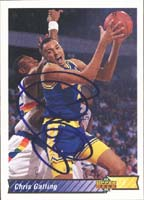 Chris Gatling Golden State Warriors 1993 Upper Deck Autographed Card. This item comes with a certificate of authenticity from Autograph-Sports. PSM-Powers Sports Memorabilia