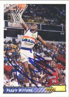 Reggie Williams Denver Nuggets 1993 Upper Deck Autographed Card. This item comes with a certificate of authenticity from Autograph-Sports. PSM-Powers Sports Memorabilia