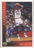 Tyrone Hill Cleveland Cavaliers 1994 Upper Deck Autographed Card. This item comes with a certificate of authenticity from Autograph-Sports. PSM-Powers Sports Memorabilia